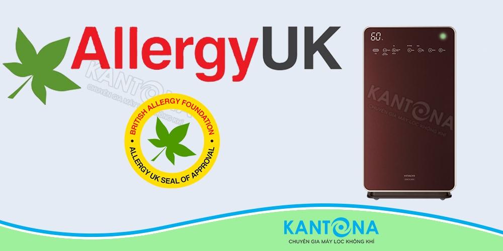 chung nhan chong di ung Allergy UK may loc khi Hitachi EP L110E - Máy lọc không khí và tạo ẩm Hitachi EP-L110E