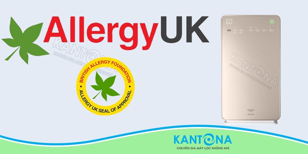 chung nhan chong di ung Allergy UK may loc khi tao am Hitachi EP A9000 - Máy lọc không khí và tạo ẩm Hitachi EP-A9000