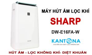 Máy lọc k hông khí và hút ẩm Sharp DW-E16FA-W