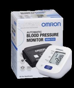 Đập hộp máy đo huyết áp Omron Hem 7121