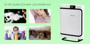 tác dụng của máy lọc không khí đối với sức khỏe
