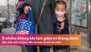 Trẻ em bị ảnh hưởng nặng nền bởi không khí ô nhiễm