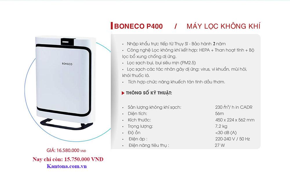 may loc khong khi boneco p400 tai kantona viet nam - Đánh giá máy lọc không khí Boneco P400 có tốt không?